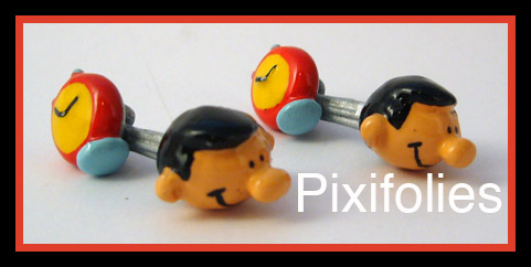 Pixi FRANQUIN : Gaston série N°3 Boutons de Manchettes Gaston / Marsu Production