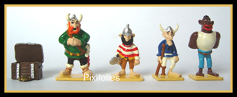 Pixi UDERZO : Mini & Village Astérix Les Pirates ( 5 figurines )