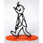 Moulinsart HERGÉ : Moulinsart Plomb / Collection Sculpture Tintin Alph-Art 14 cm Socle couleur orange