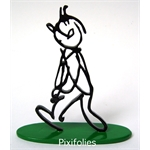 Moulinsart HERGÉ : Moulinsart Plomb / Collection Sculpture Tintin Alph-Art 14 cm Socle couleur vert