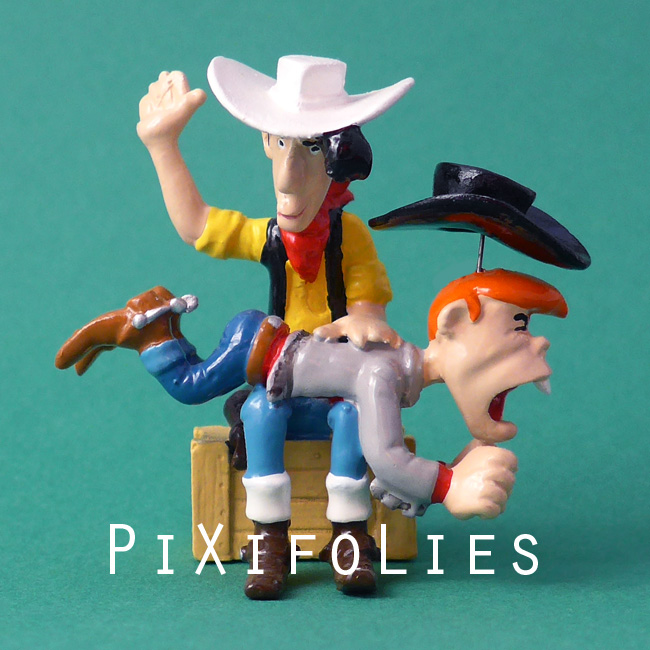 "Pixi MORRIS : Lucky Luke ""La FESSÉE"" de Lucky Luke à Billy the Kid /  La Main Blanche"
