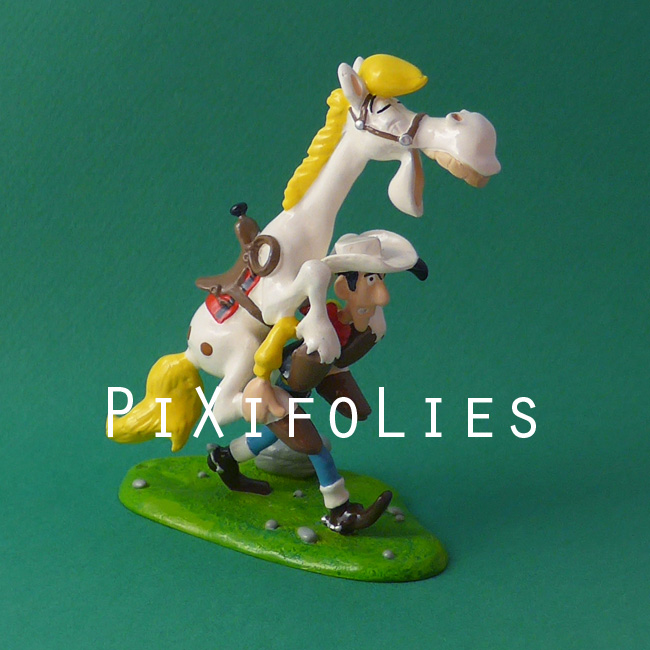 Pixi MORRIS : Lucky Luke Lucky Luke portant Jolly Jumper