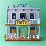 Pixi MORRIS : Mini & Ville de Lucky Luke L'Hôtel + 1 fig