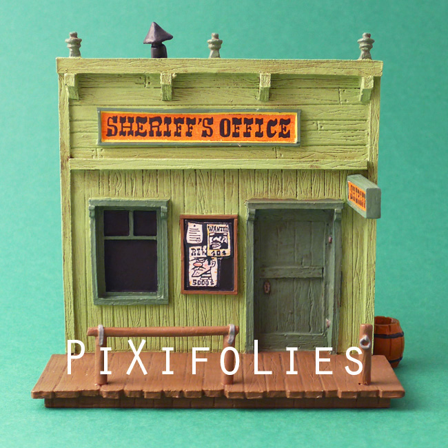 Pixi MORRIS : Mini & Ville de Lucky Luke Le Sheriff-Office + 1 fig.