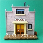 Pixi MORRIS : Mini & Ville de Lucky Luke La Banque + 1 fig.