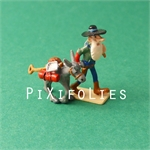 Pixi MORRIS : Mini & Ville de Lucky Luke Le chercheur d'or - 2 fig.