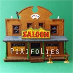 Pixi MORRIS : Mini & Ville de Lucky Luke Le Saloon + 3 fig.