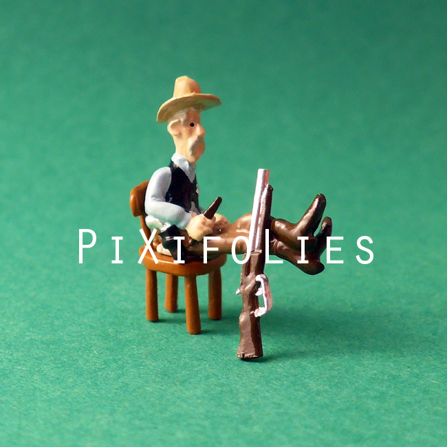 Pixi MORRIS : Mini & Ville de Lucky Luke Bte compl. Sherif Office - 3 fig.