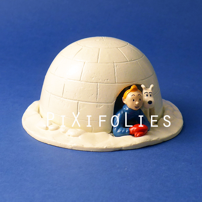 Moulinsart HERGÉ : Moulinsart Plomb / Collection Classique Tintin Milou igloo