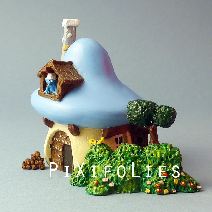 Pixi peyo mini village schtroumpf mini village schtroumpf - Schtroumpf maison ...